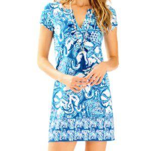 Lilly Pulitzer Sophiletta Dress in Blue Elephant